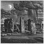 Howard Phipps, 1196 - A RISING MOON, STONEHENGE