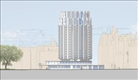 Darling Associates, 672 - EASTERN ELEVATION OF THE PROPOSED RENOVATION AND EXTENSION OF THE PARK TOWER, KNIGHTSBRIDGE