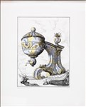 Pablo Bronstein, 1060 - TEA URN ON ARCHITECTURAL SUPPORT I