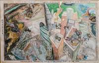 Timothy Hyman RA, 985 - EZEKIEL DRAWS THE CITY