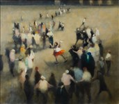 Bill Jacklin RA, 13 - SINGER IN THE SQUARE I