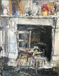 Anthony Eyton RA, 1409 - STUDIO FIREPLACE AND CHAIR