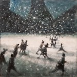 Bill Jacklin RA, 743 - SQUARE AT NIGHT WITH SNOW II
