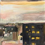 Catrin Llwyd, 696 - STORMY SKIES, YELLOW LIGHTS