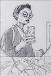 Jess Routley, 370 - SELF PORTRAIT (LYCHEE)
