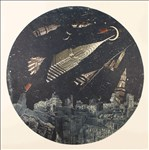Anne Desmet RA, 747 - IN SEARCH OF NEW WORLDS