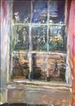 Anthony Eyton RA, 847 - NIGHT, STUDIO WINDOW