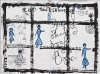 Rose Wylie RA, 583 - CLOTHES I WORE #22