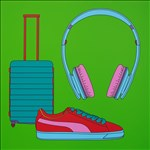 Sir Michael Craig-Martin RA, 100 - UNTITLED (WITH SUITCASE)