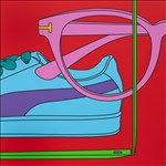 Sir Michael Craig-Martin RA, 99 - UNTITLED (WITH GLASSES)