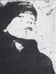 Lynne Beel, 874 - A SELF PORTRAIT IN FURRY CAP