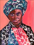 Osnat Lippa, 93 - PORTRAIT OF AN ARTIST WEARING TRADITIONAL AFRICAN DRESS