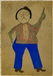 Bill Traylor, 86 - MEXICAN MAN WITH GREEN AND RED SPOTTED SHIRT